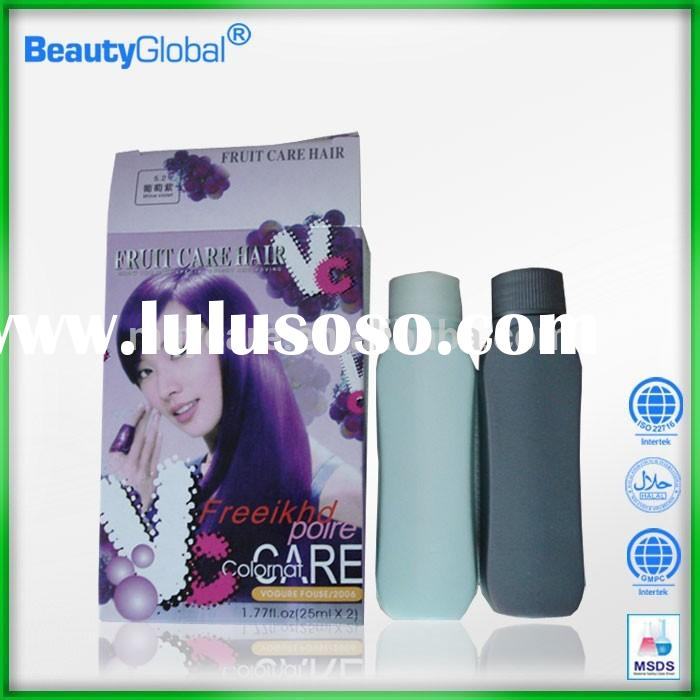 Anti-allergy & speedy & mild organic hair dye products chemical free hair colors