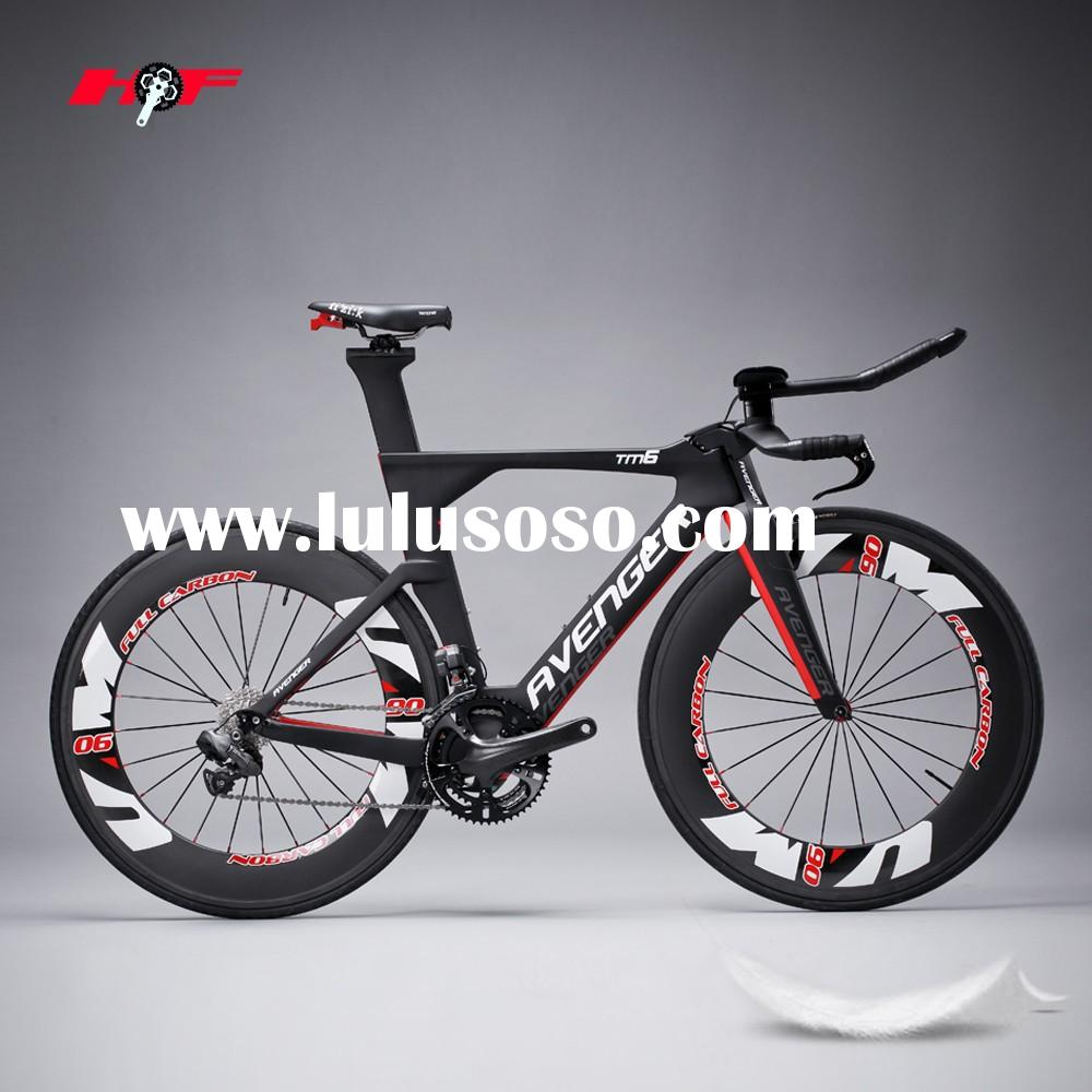 Carbon no complete bike TT road bike frame Aerodynamic design carbon tt bike frame for sale