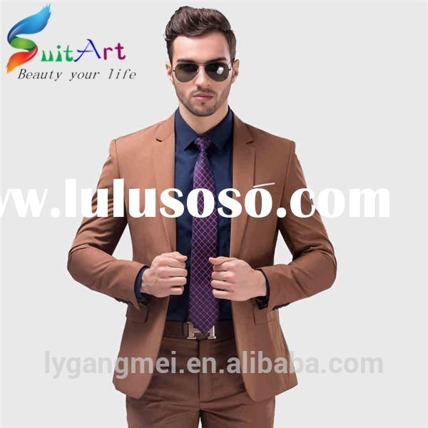 Fashion Customized High Quality Tuxedo Woolen Two Buttons Men Suits For Wedding