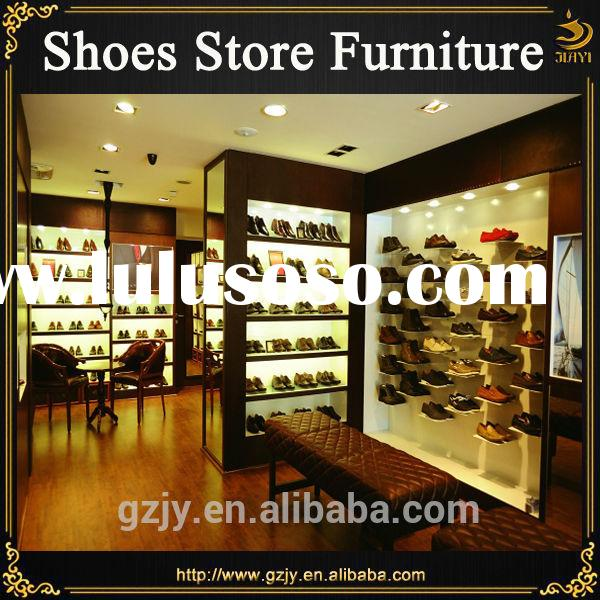 Fashion hot selling wood business shoe stand rack for footwear display