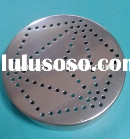 brown metal mason jar lid with holes,salt and pepper shaker aluminun lid