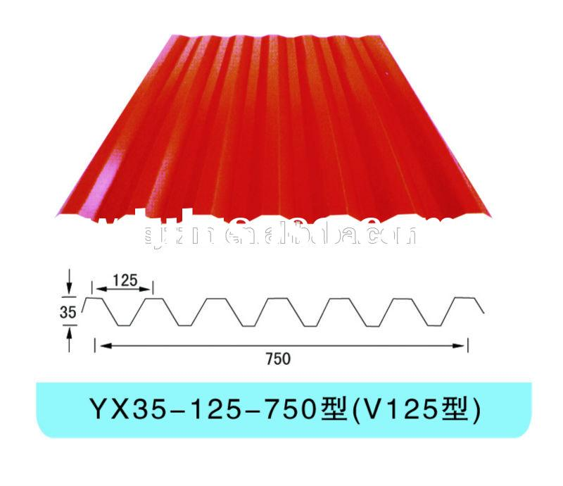 type of long span colorful galvanized steel roofing
