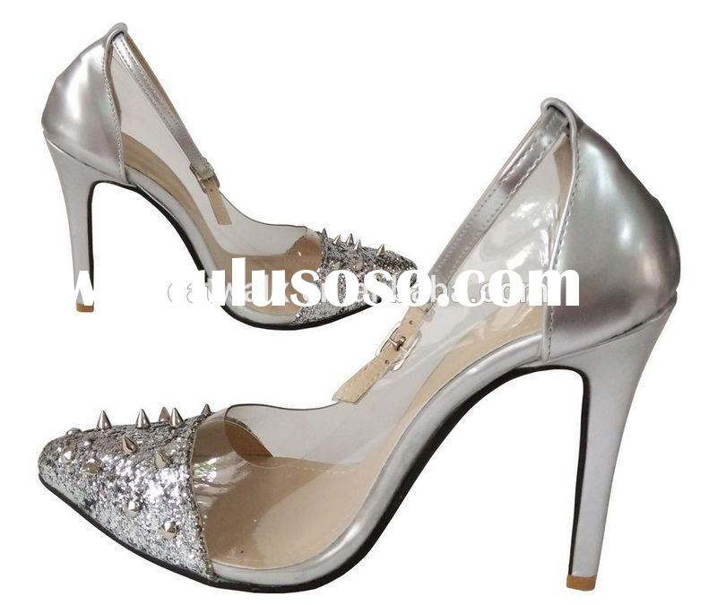 2015 Newest Shoes for Women/High Heel Wedding Dress Shoes for Ladies/Wholesale Plus Size Transparent