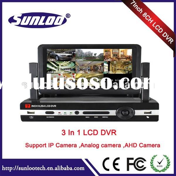 7Inch Monitor TFT LCD DVR 8 Channel best surveillance dvr digital video recorder security lcd dvr co