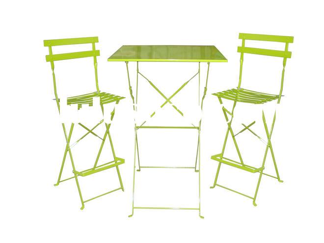Folding metal bistro table chair set for garden patio furniture/metal garden furniture set