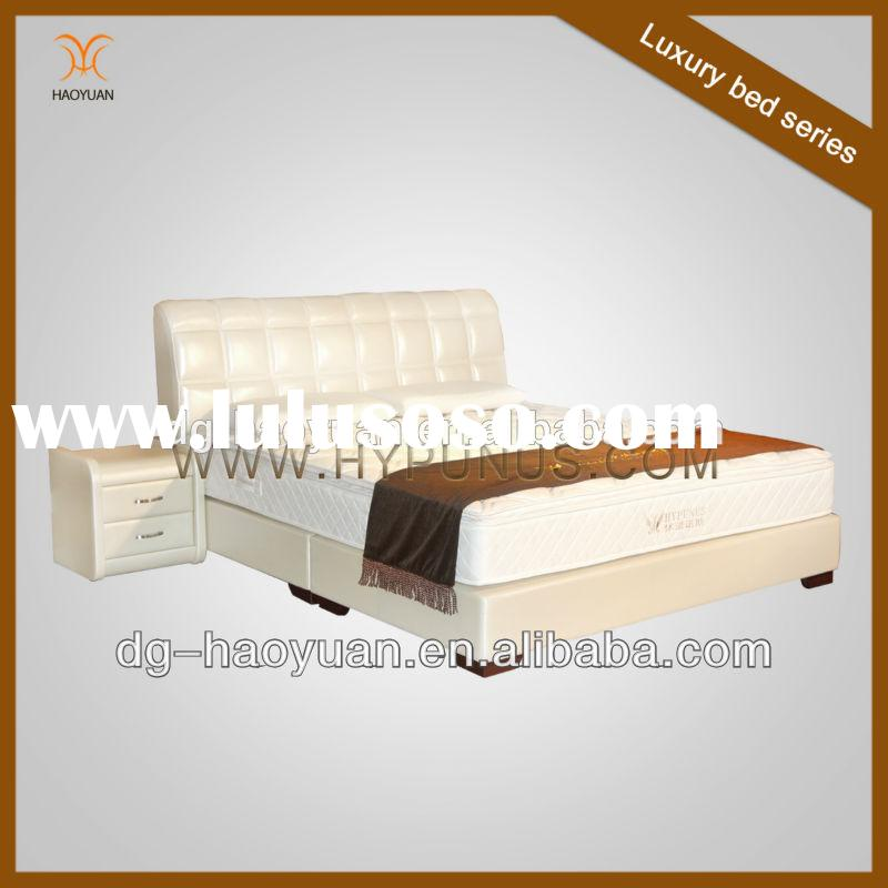French antique reproduction bedroom comfortable furniture leather bed
