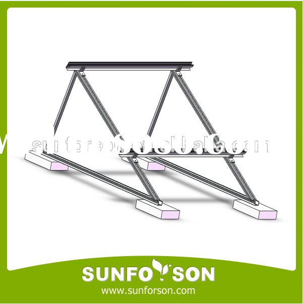 Hot sale Triangular flat roof mounting brackets for solar panel
