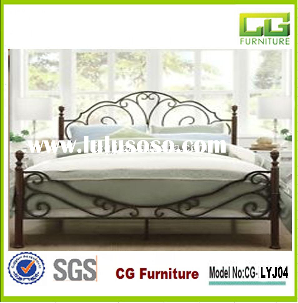 Modern cheap metal queen bed frame for bedroom furniture