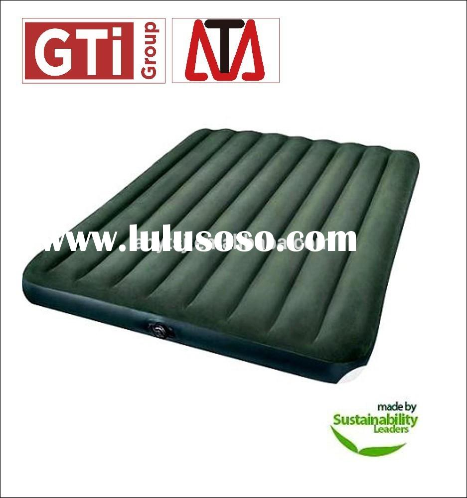Queen Inflatable Air Mattress With Battery Pump Intex Classic Downy Camping Bed