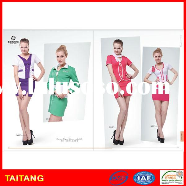 high quality 2015 hot sell Factoy Price Blend Long Sleeve stylish red airline uniform for women