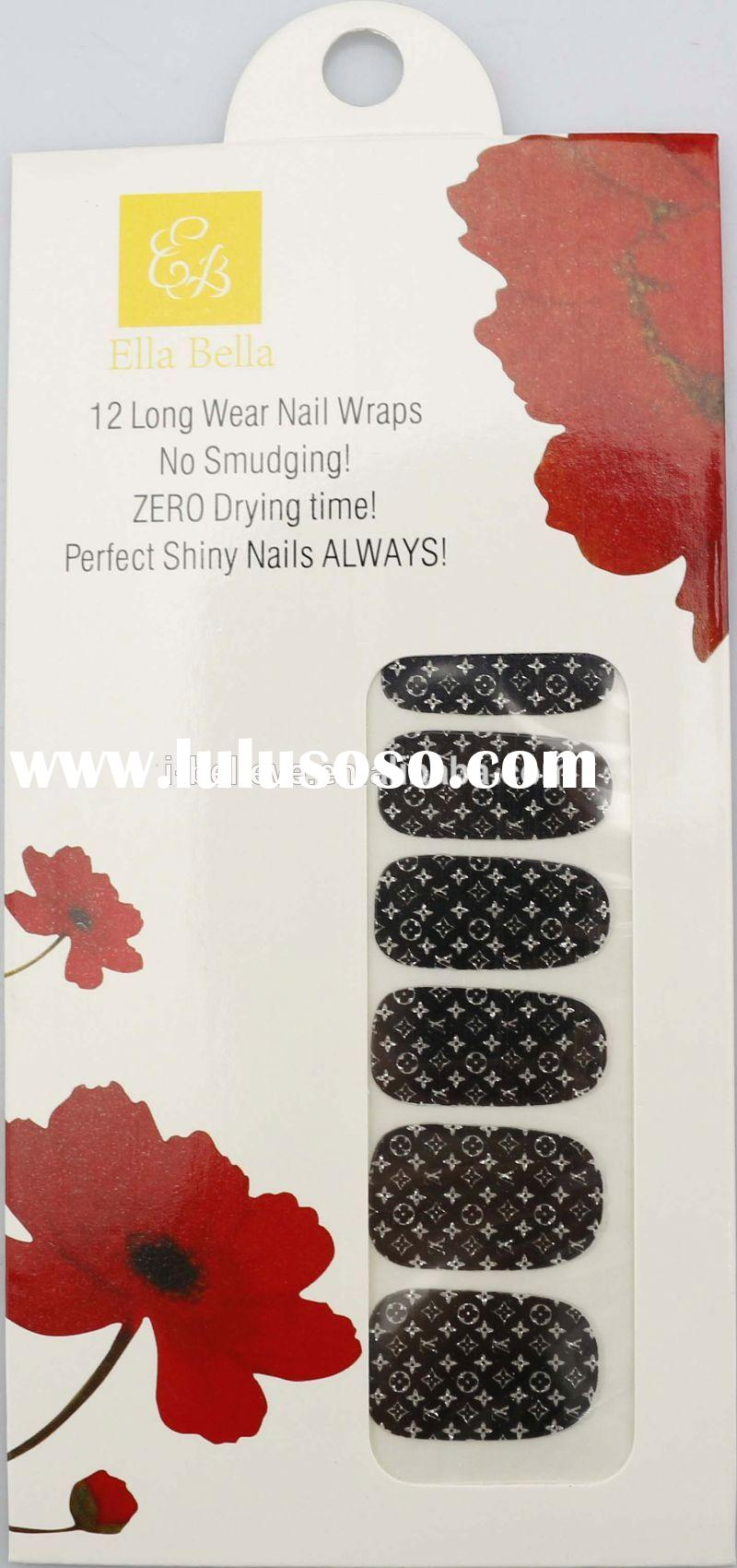2014 Hot New Girls fashion decal art 3D Nail Sticker ble nail sticker for sale