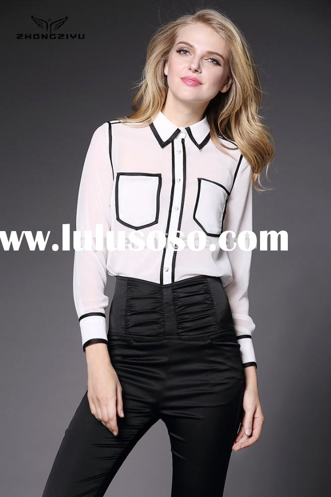 2015 New Design lady Tops and Blouse Women Z4131