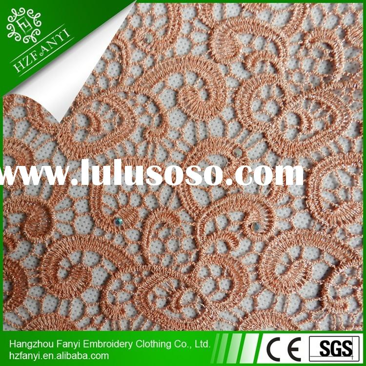 2015 african cord lace embroidery design new york wholesale lace fabric for party
