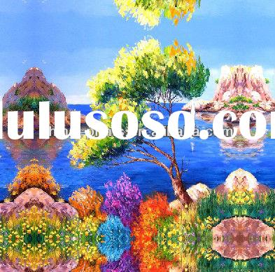 Colorful Handmade Lake Canvas Oil Painting For Sale