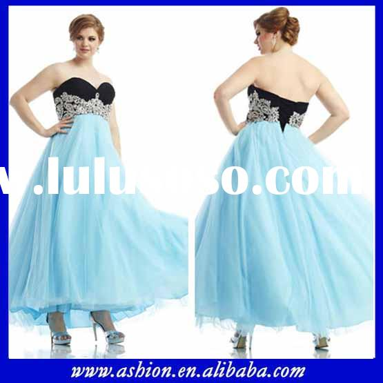 ED-0823 New collection two tone big size prom dresses gothic plus size prom dresses under 200