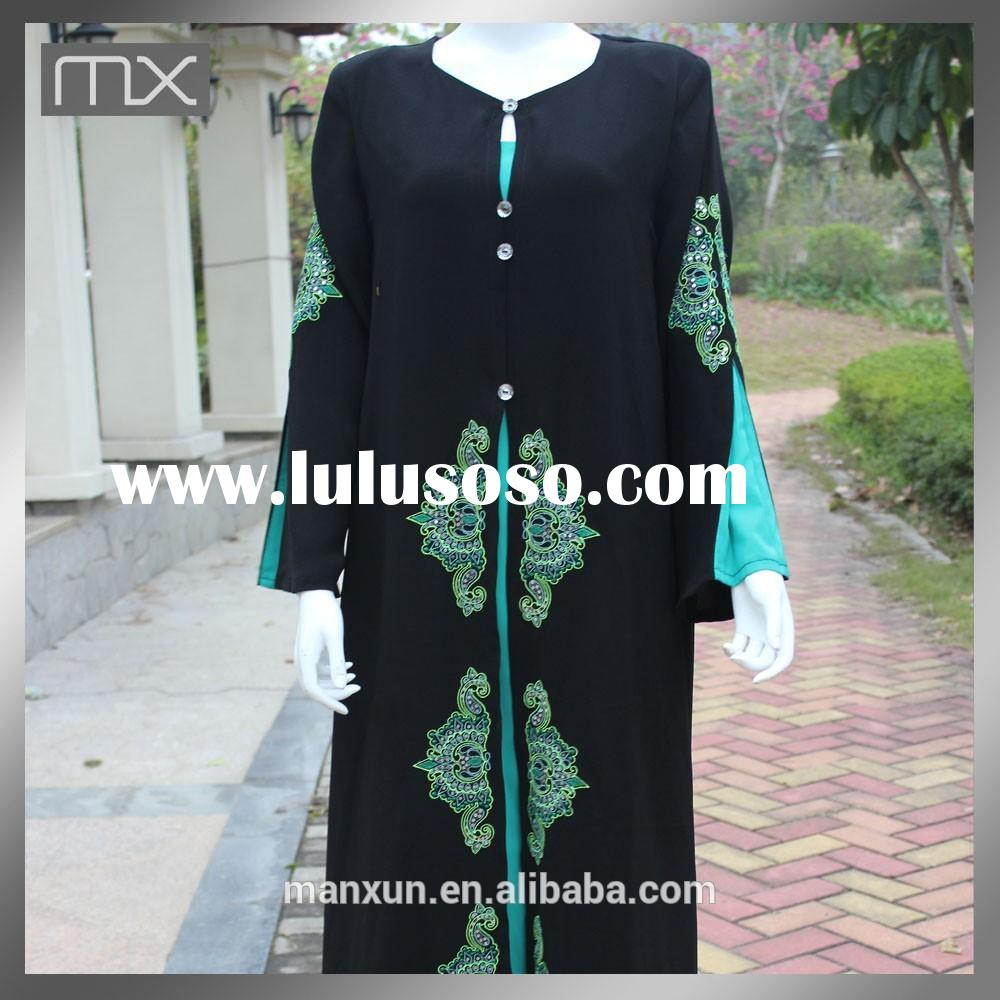 Fashion Dress 2015 Women Clothing Hand Embroidered Abaya Kaftan Dresses in India