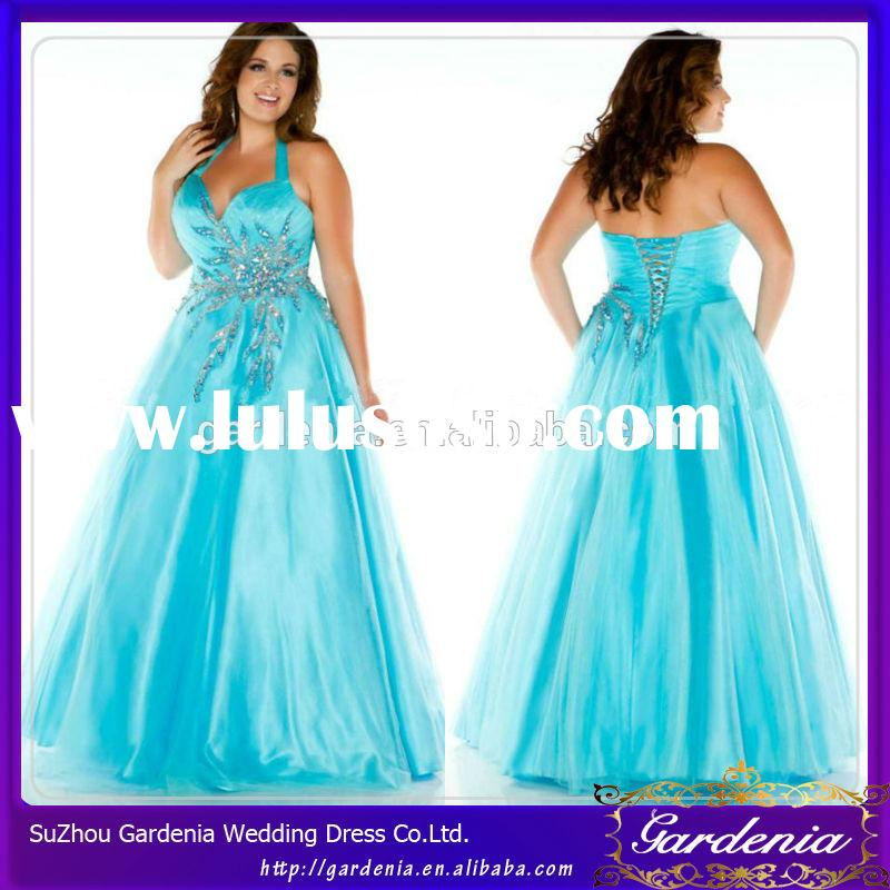 Halter Big Size Fat Prom Dress Inexpensive Plus Size Prom Dresses Under 200