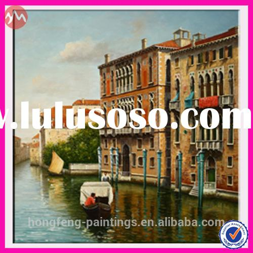 Handmade Venice Landscape Canvas Oil Painting for Home Decoration NHF-5322