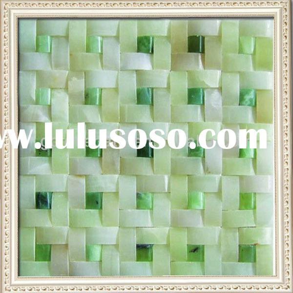 Latest design decoration wall tile turquoise mix white onyx marble