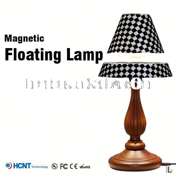 Magnetic floating lamp shade ,clear acrylic lamp shade