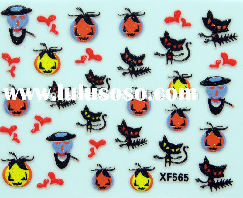 New Hot Sale Nail Art Stickers For Decoration Holloween Series