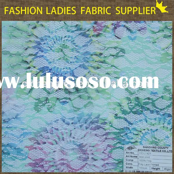 New nice print tulle lace fabric new york wholesale fabric lace royal blue african voile lace fabric