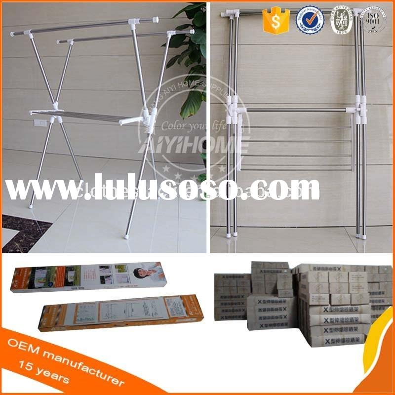Outdoor Folding Multifunction Stainless Steel Clothes Drying Rack with Towel rack