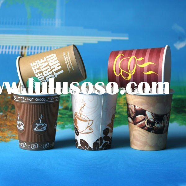 disposable coffee cups and saucer