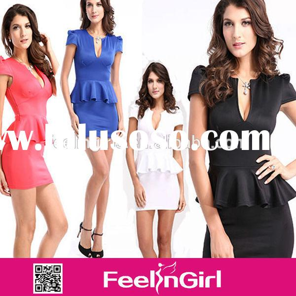 high fashion newly hot cheap formal office dresses for women