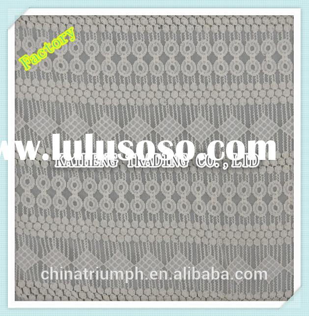 polyester cotton African high quality New York curtain making lace fabric