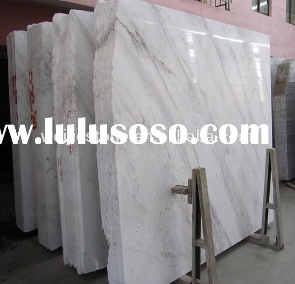 Greece volakas white marble slab and tile, white color grey veins marble
