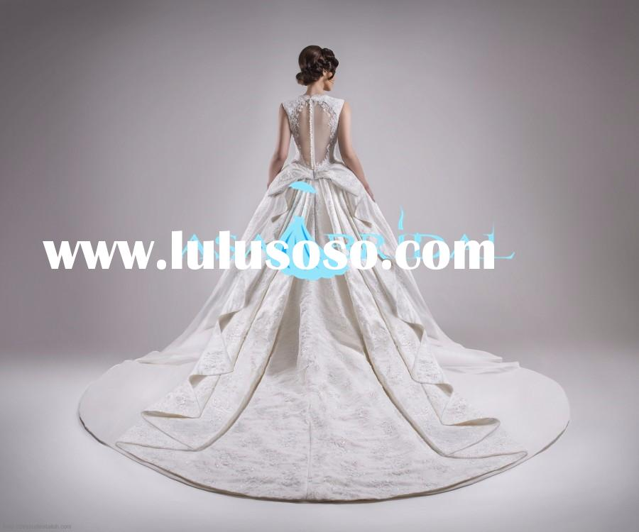 Stunning sweetheart satin Puffy dress wedding ribbons bow Princess Ball Gown layered for wedding dre