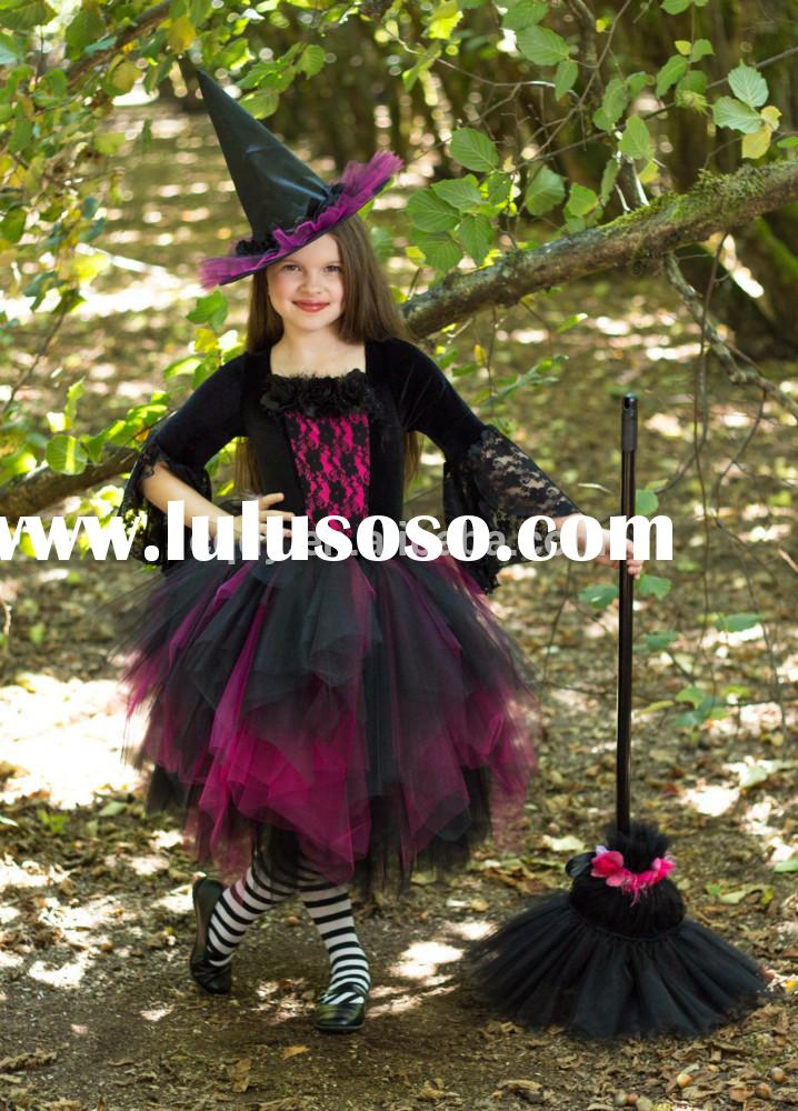 2015 new baby frock the Halloween party dress, girls little witch costume dress