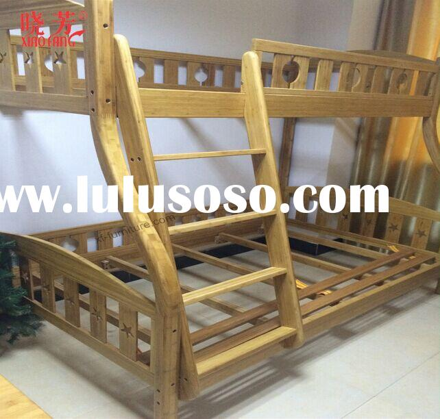 China supplier wholesale bamboo wood bunk bed used bedroom furniture for sale