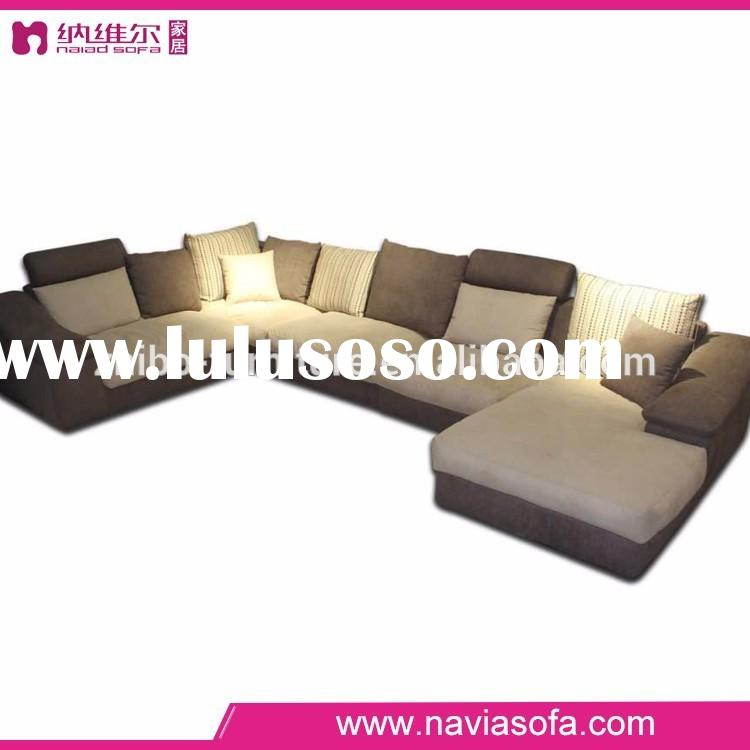 Modern fabric sofa half round oversized sectional with chaise lounge two color sofa