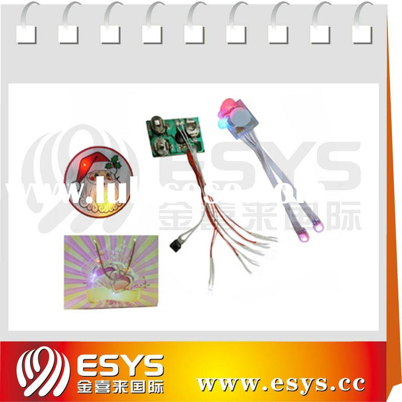Recordable push button sound modules,waterproof led module for T-shirt and other gift
