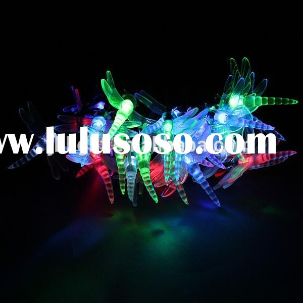 solar LED Garden Yard Dragonfly Shaped String Lights Festival Lamp