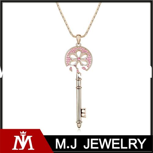 wholesale vintage style gold plated big diamond sweater necklace clasp