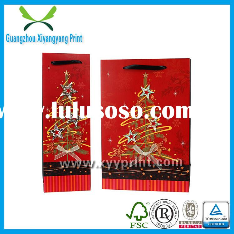 2014 New Fashion Recyle Christmas Paper Decorative Bags For Holiday