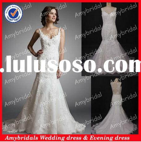 AM0625 Real picture sweetheart mermaid irish lace wedding dresses