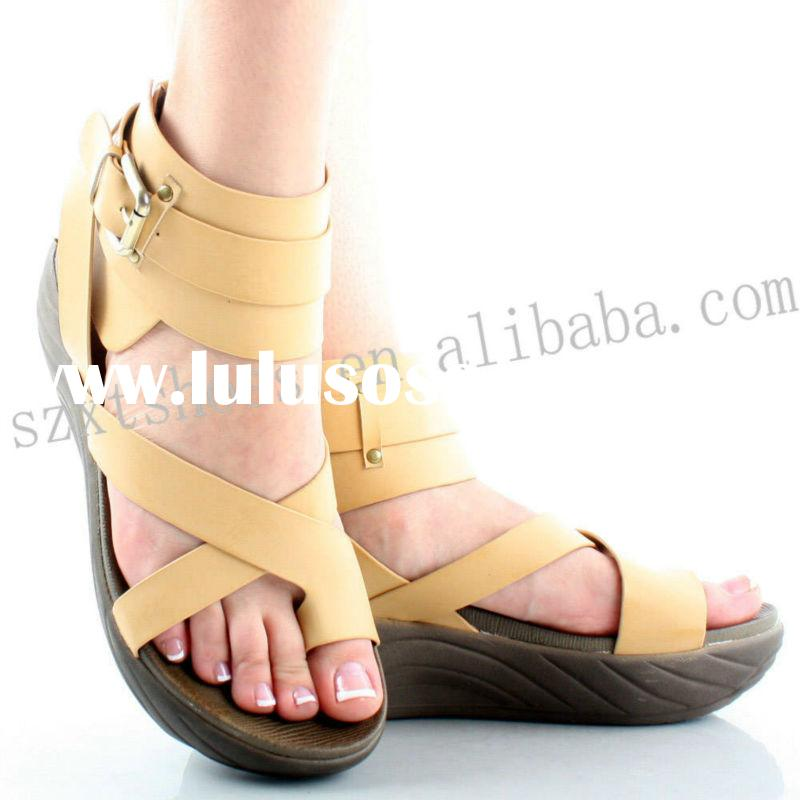 Comfortable lady sandal open toe brand shoe thick sole shoes for women