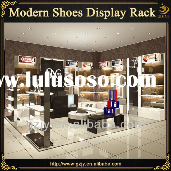 High grand commercial shoe racks and wall mounted shoes display stand for mall store equipment desig