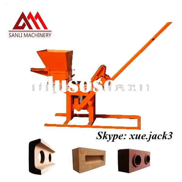 QMR2-40 manual clay brick making machine with low price for hot sale/compressed earth blocks machine