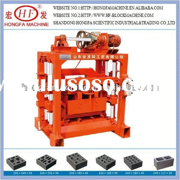 QTJ4-40 Manual Hollow Block Machine for Sale/Manual Fly Ash Brick Making Machine/Manual Earth Brick