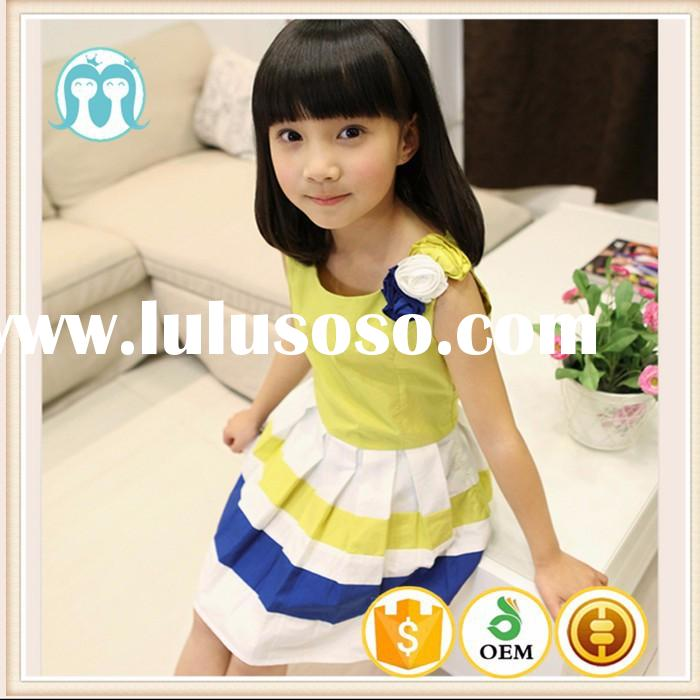 2015 High Quality children kids Cotton Frock Designs for baby girl