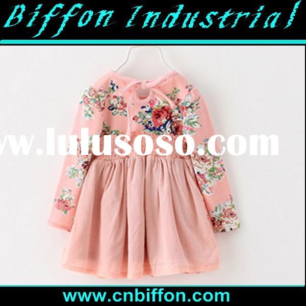 2015 birthday dress baby girl party dress little girls cotton summer dresses BF041