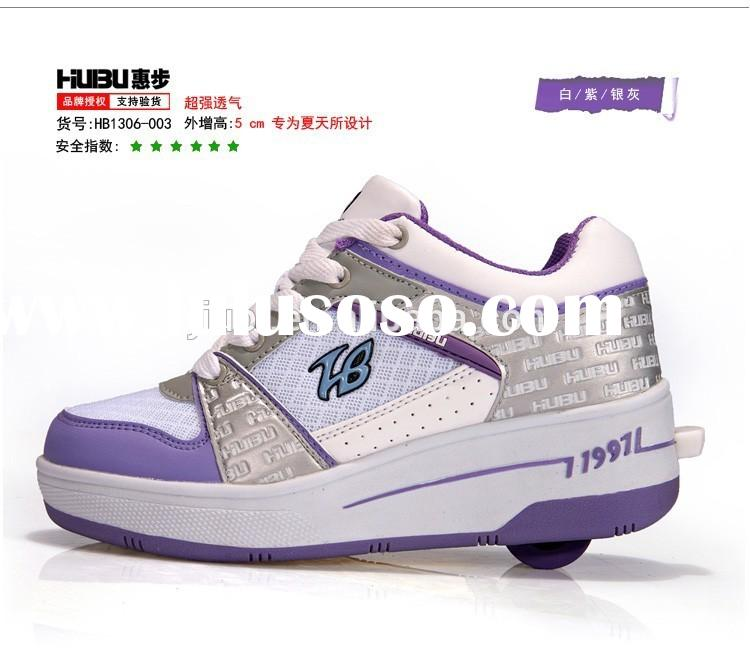 2015 new style fashion children skate roller shoes sneakers with retractable wheels, boys roller ska
