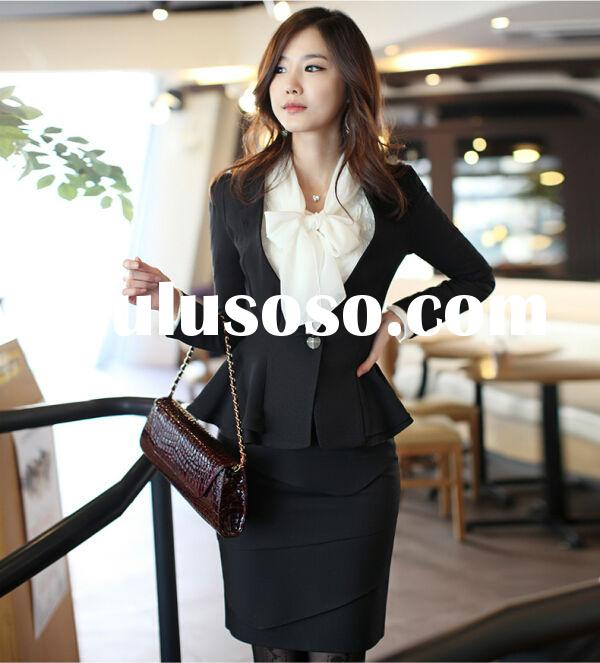 2015New Fashion Girls Fancy Business Suits for woman made in china