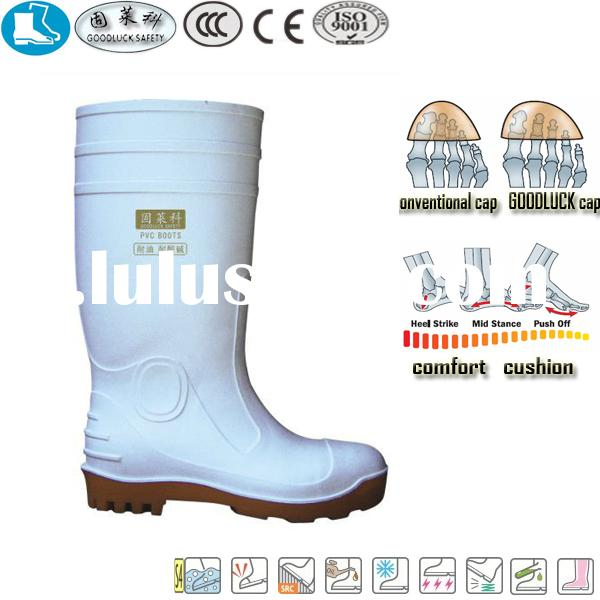 47 white yellow cheap rubber rain boots wholesale PVC safety boot