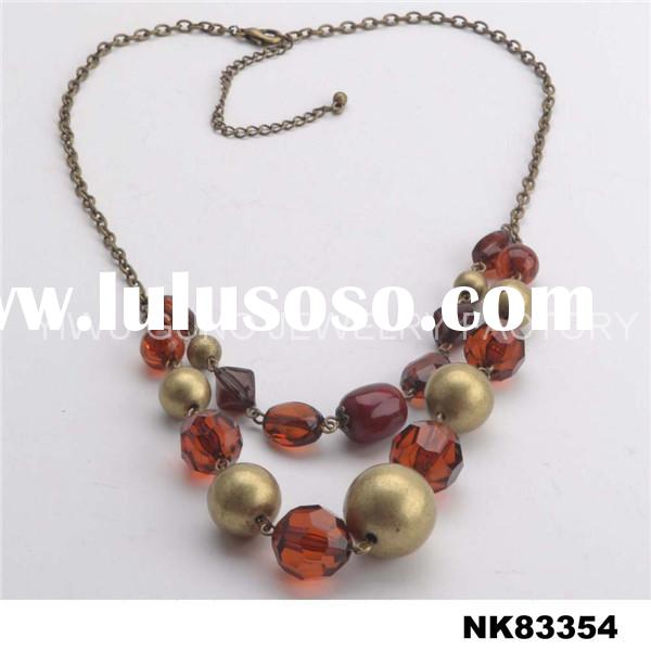 Costume rosary bead necklace for women